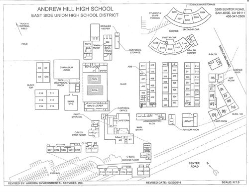 San Jose Campus Map.Esuhsd Andrew P Hill High School Campus Map
